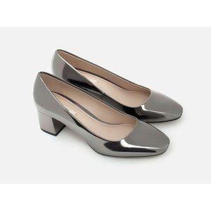 Zara Shiny Court Shoes Silver Mirror Reflective